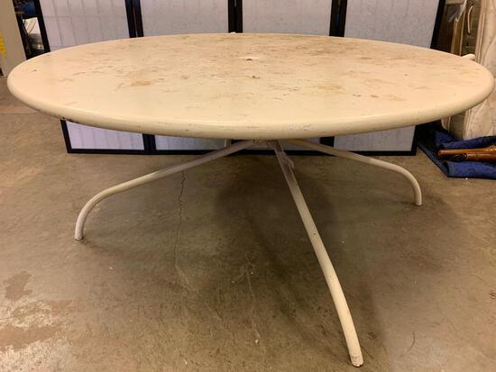 Vintage Metal Outdoor Table