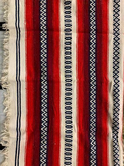 Woven Blanket W/Southwestern Look