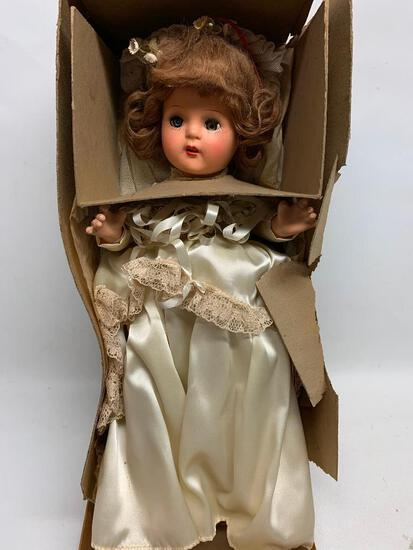 Vintage Horsman Composition Wedding Doll In Original Box