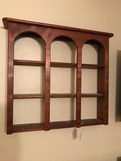 Wooden Display Wall Shelf