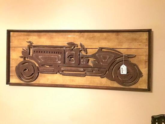 Framed Cut-Out Of Antique Roadster