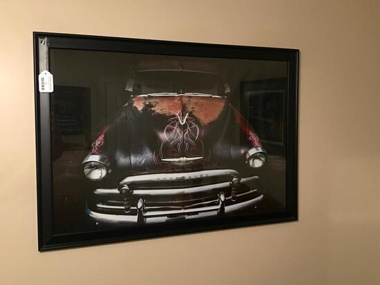 Large Framed Print Of Vintage Chevrolet Car