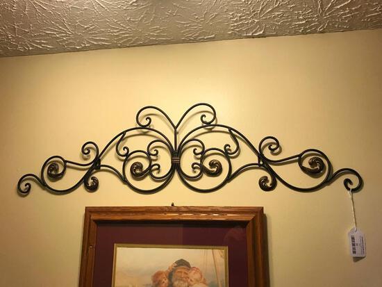 Ornate Iron Wall Decoration