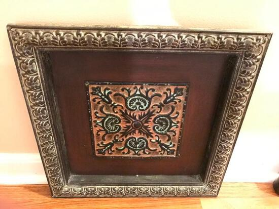 (3) Decorator Embossed Tin Frame & Artwork