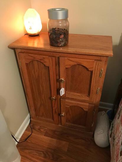 Solid Oak 3-Door Multiple Use Cabinet