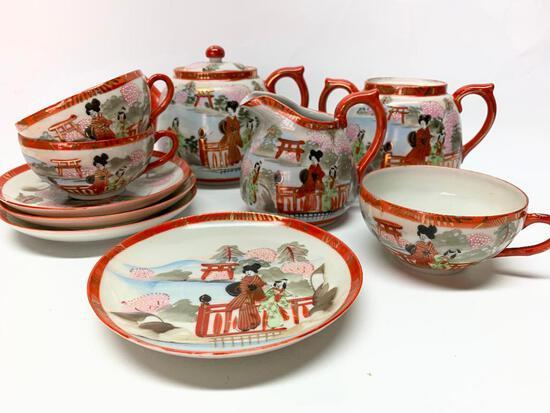 Orietal Porcelain Tea Service