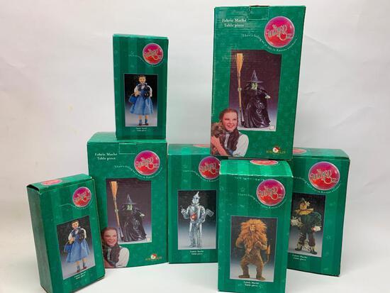 "(7) Pcs. ""Wizard Of Oz"" Figures W/Boxes By Kurt S. Adler 2001"