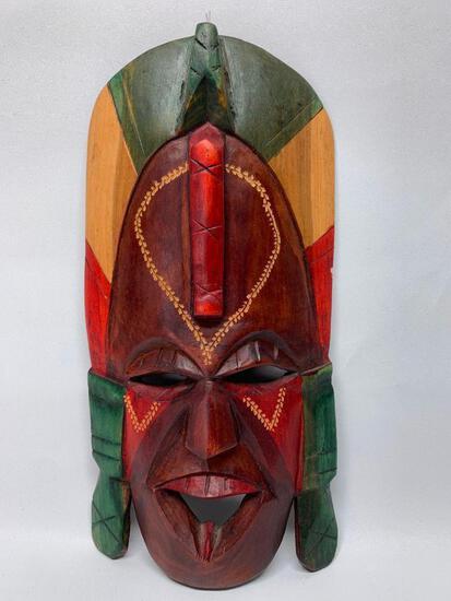 Carved Wooden Tribal Mask From Kenya