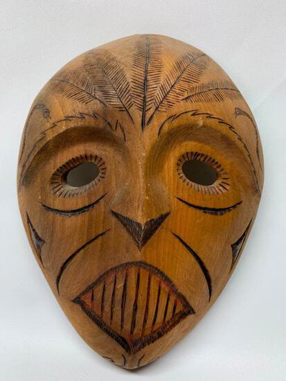 Carved Wooden Tribal Mask From Africa