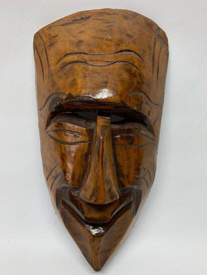 Carved Wooden Tribal Mask-Unmarked