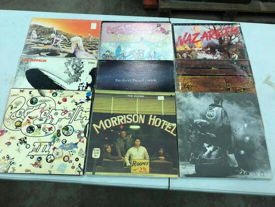 Group of (9) Rock/Pop Records