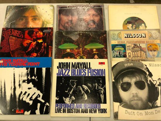 Group of (9) Rock/Blues Records