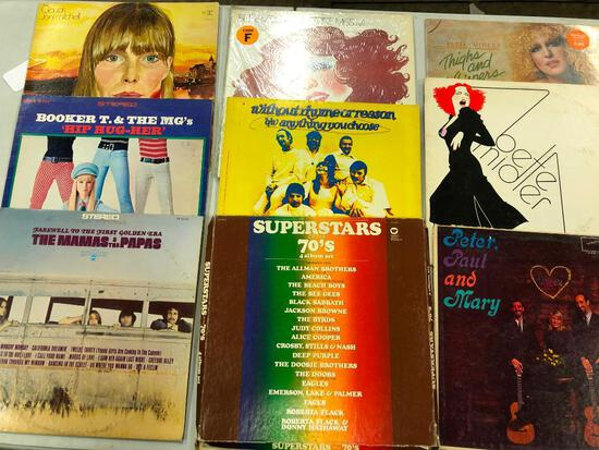 Group of (9) Pop/Rock Records