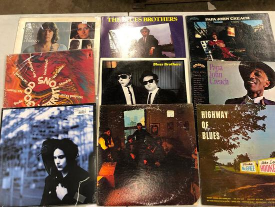 Group of (9) Various Blues Records