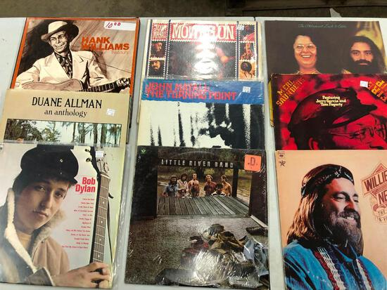 Group of (9) Rock/Country Records