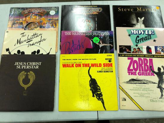 Group of (9) Various Jazz/Soundtrack Records