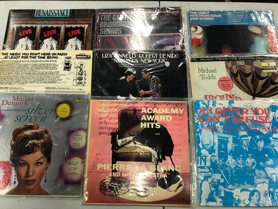 Group of (9) Soundtrack Records