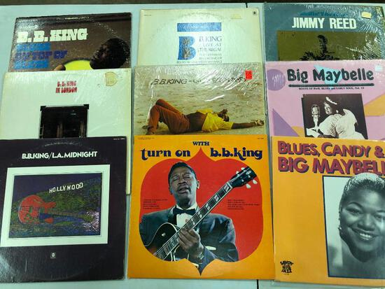 Group of (9) Blues Records
