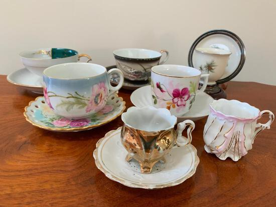 Nice Group Of Porcelain Cups & Saucers