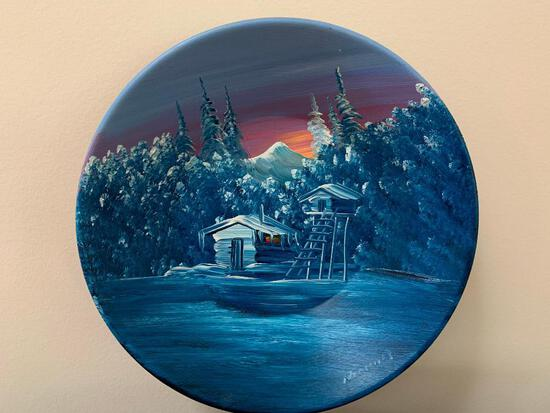 Hand Painted Vintage Tin Bowl