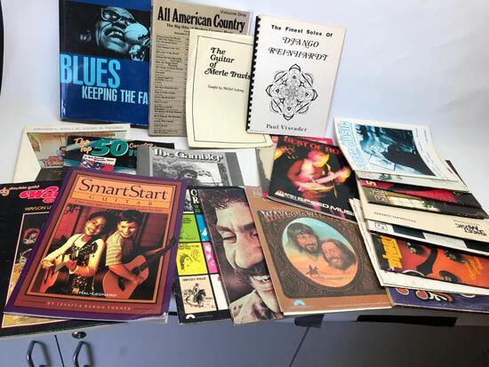 Nice Group Of 80's Era Sheet Music & Blues Book