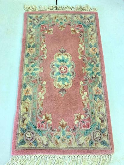 100% Wool Vintage Chinese Rug