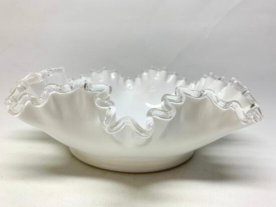 Fenton Silver Crest Large Bowl