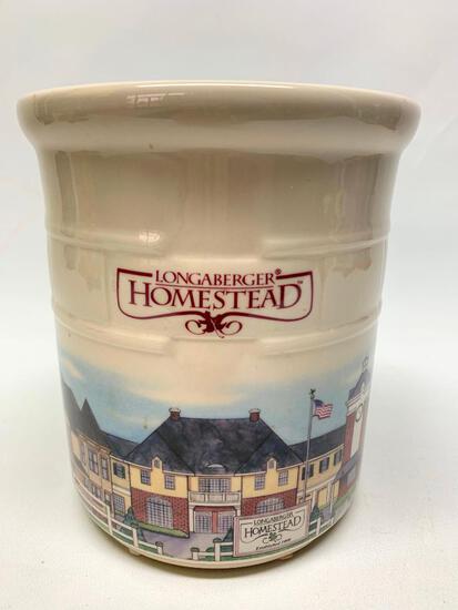 "Longaberger Homestead ""Woven Traditions"" Crock"