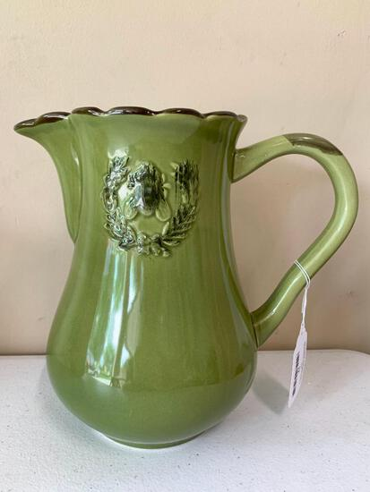 Home Essentials & Beyond Handled Pitcher W/Embossed Design