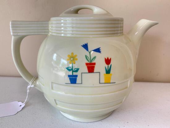 Vintage Enterprise Drip-O-lator Coffee Pot W/(3) Flowers