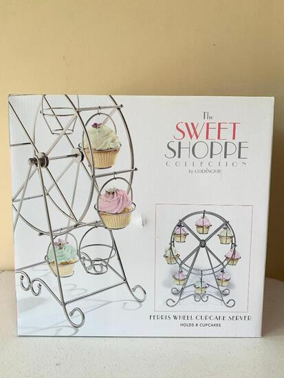 The Sweet Shop Collection Ferris Wheel Cupcake Server W/Box