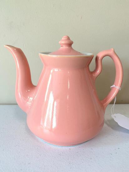 """Vintage Hall China """"Philadelphia"""" Old Rose Teapot"""