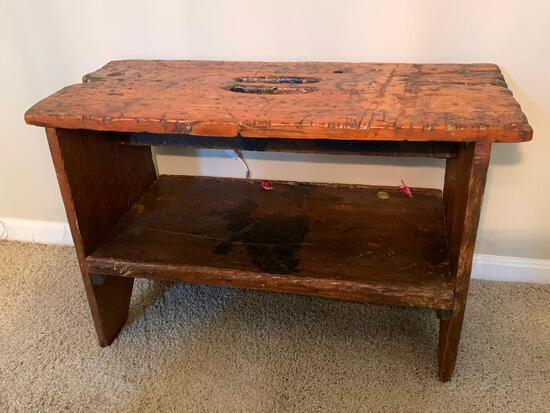 Early Primitive Pine Bench