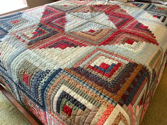 Full Size Bedspread Quilt W/Matching Pillows