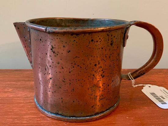 Early Hand-Made Copper Pourer W/Handle