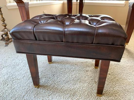 Adjustable Piano Seat W/Tufted Top