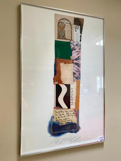 """Framed Collage By Gordon Richardson Titled """"The Ritual"""" 1977"""