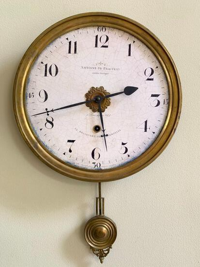 Antique Style Round Wall Clock By Timeworks Of California