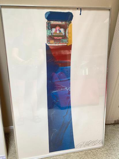 "Framed Collage By Gordon Richardson Titled ""Schimmelpenninck"" 1978"