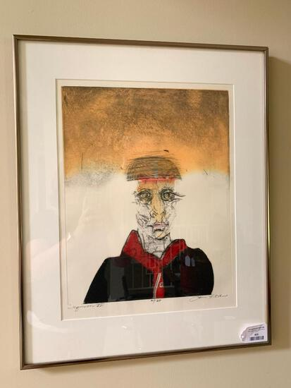 """Framed Limited Edition Etching By James Ochs Titled """"Inquisition VI"""" #21/30"""