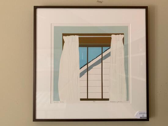 """Framed Limited Edition Print By Kathleen Jones Titled """"Window, North"""" #3/10"""