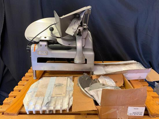 Berkel Model 919/1 Meat Slicer With Attachments & Extra Hobart Blade