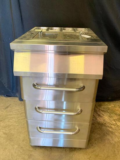 Stainless Steel Prep Table W/3-Drawers