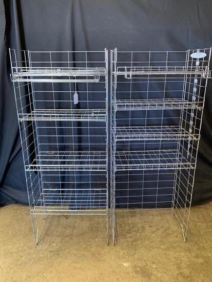 (2) Steel Wire 4-Tier Display Rack