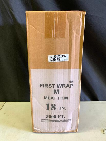 """Unopened Box Of 5,000 Ft. Of 18"""" Meat Film"""