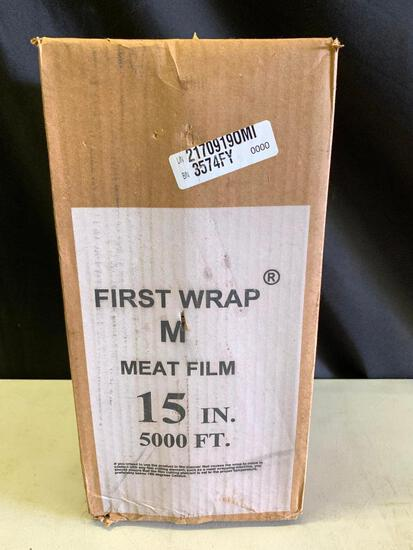 """Unopened Box Of 5,000 Ft. Of 15"""" Meat Film"""