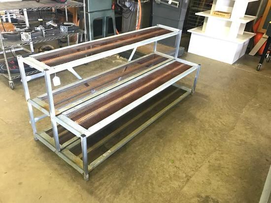 Metal, Double Step, Outdoor Plant or Large Items Display Shelves