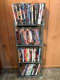 (60) 'ish DVD Movies In Holder