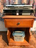 Nightstand with with DVD Player and VHS and DVD Combo
