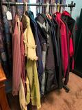 Nice Group Of Men's Lightweight Coats & Clothing W/Rack